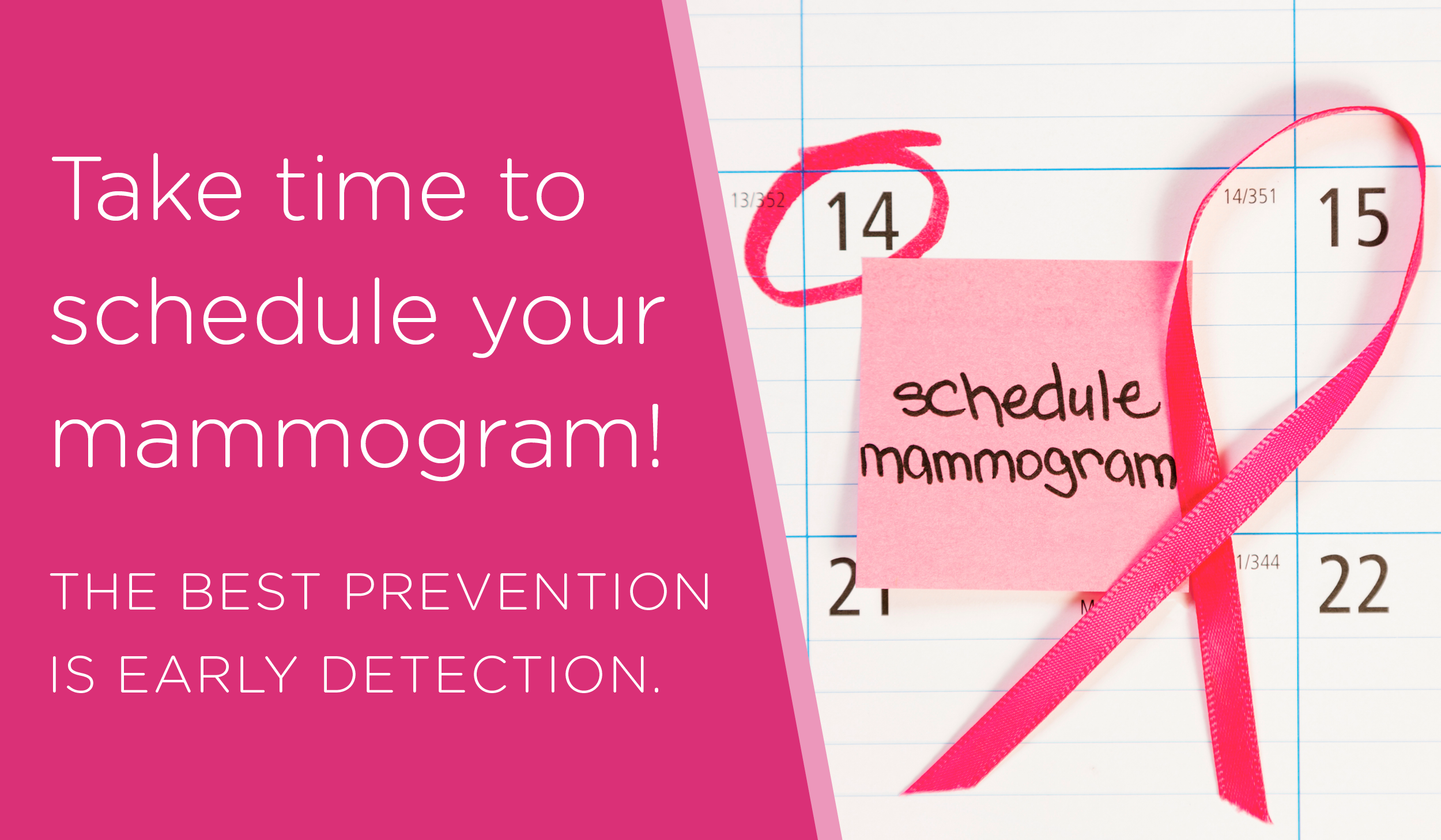 Take time to schedule your mammogram!